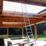 Lichtstraat in uitbouw/veranda